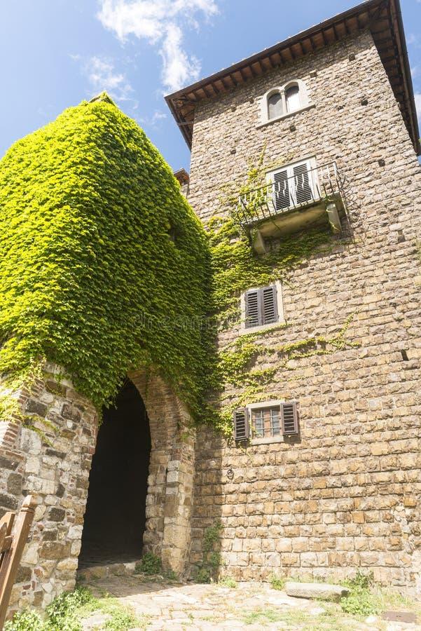 Montefioralle (Chianti, Toscana) imagen de archivo libre de regalías