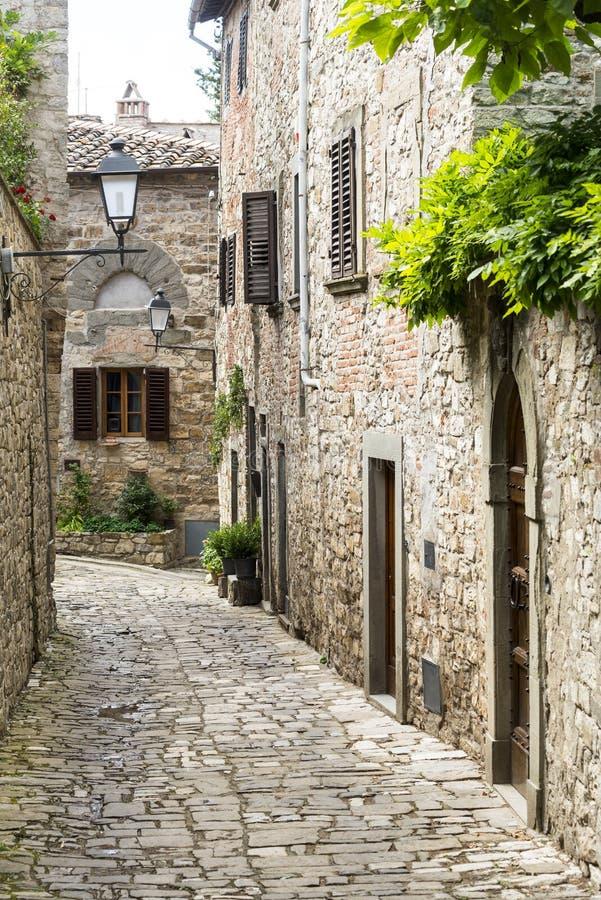 Montefioralle (Chianti, Toscana) fotos de archivo libres de regalías