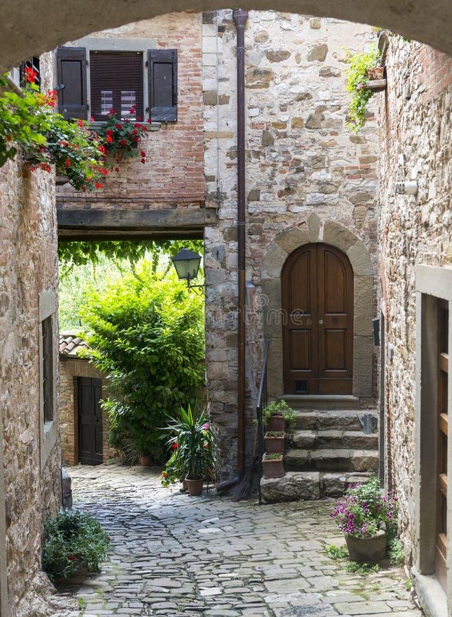 Montefioralle (Chianti, Toscana) fotografía de archivo libre de regalías