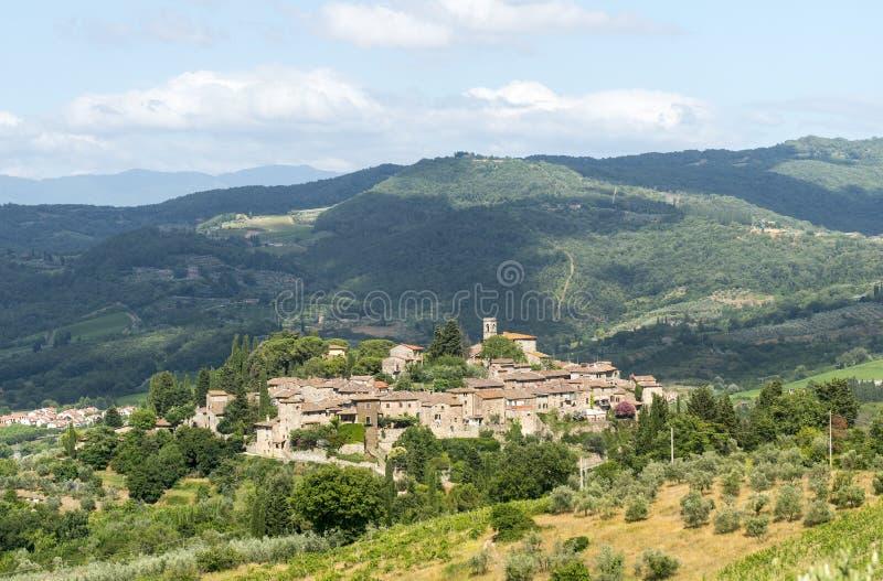 Montefioralle (Chianti, Toscana) fotografie stock libere da diritti