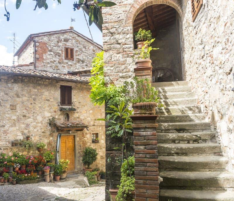 Montefioralle (Chianti, Toscana) fotografia stock