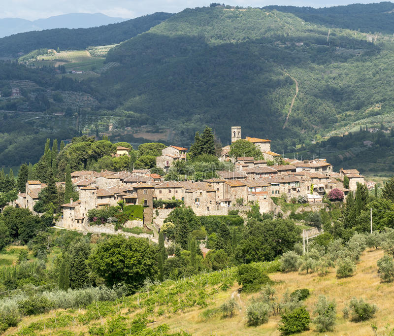 Montefioralle (Chianti, Toscana) immagine stock libera da diritti