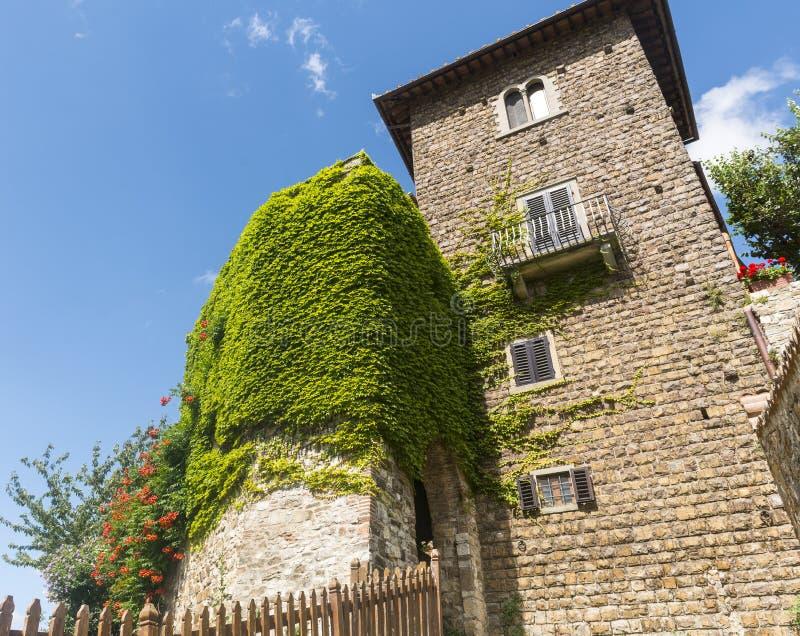 Montefioralle (Chianti, Toscana) immagini stock libere da diritti