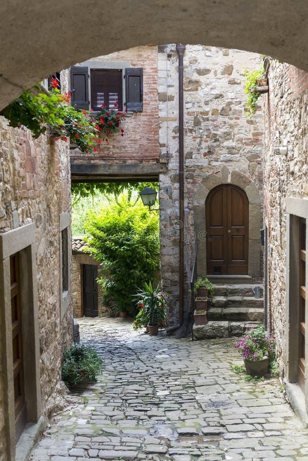 Montefioralle (chianti, Toscane) image stock