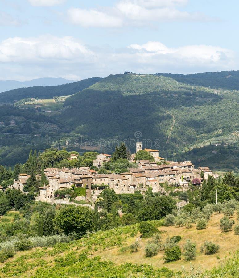Montefioralle (chianti, Toscane) photos stock