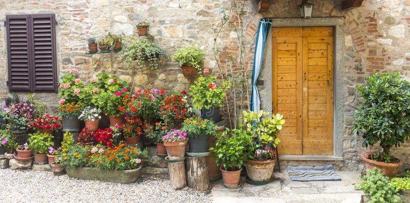 Montefioralle (Chianti, Toscanië) royalty-vrije stock fotografie