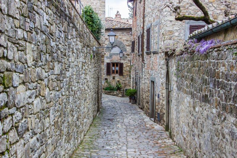 Montefioralle in Chianti in Toscanië stock foto