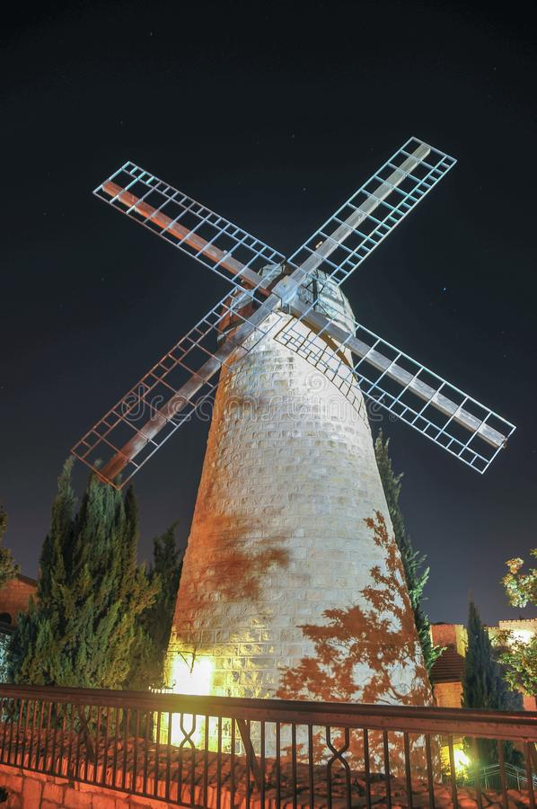 Montefiore风车-耶路撒冷,以色列 库存图片
