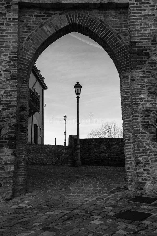 Montefiore Conca (Rímini) foto de archivo