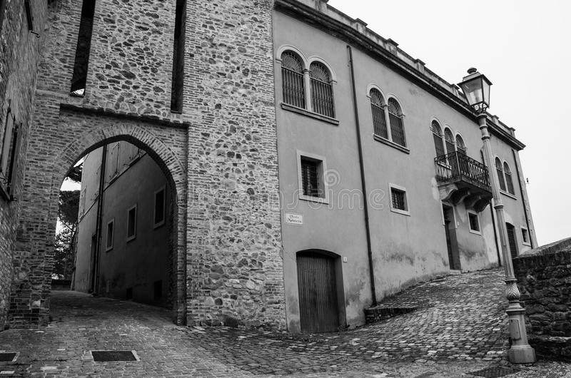 Montefiore Conca (Rímini) fotografía de archivo