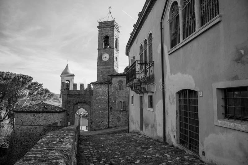 Montefiore Conca (Rímini) imagen de archivo libre de regalías