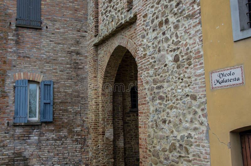 Montefiore Conca (Rimini) royalty free stock photos