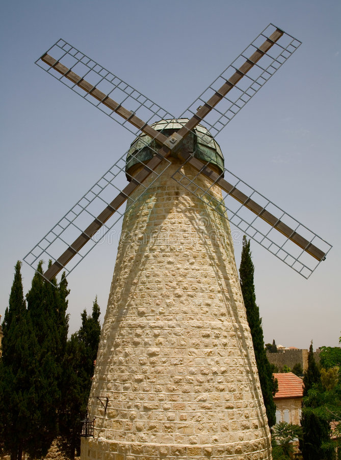 Download Montefiore Windmill In Jerusalem Stock Photo - Image: 811590