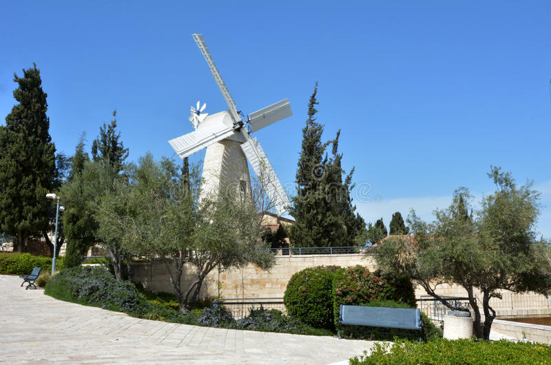 Montefiore Windmill in Jerusalem Israel royalty free stock photos