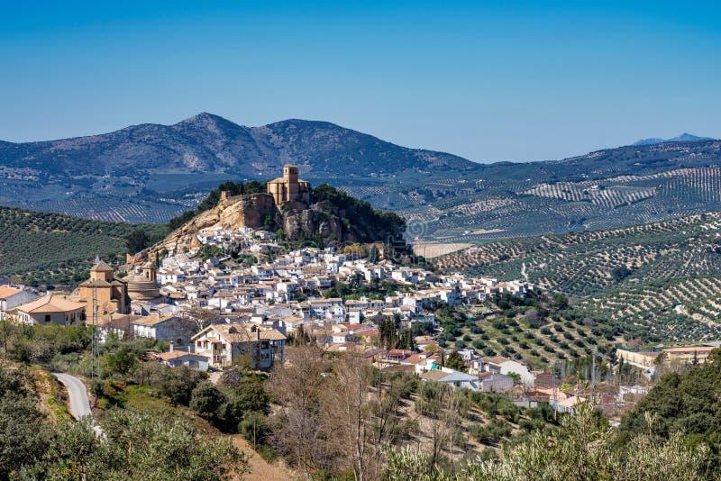 Montefrio in het gebied van Granada van Andalusia in Spanje royalty-vrije stock foto