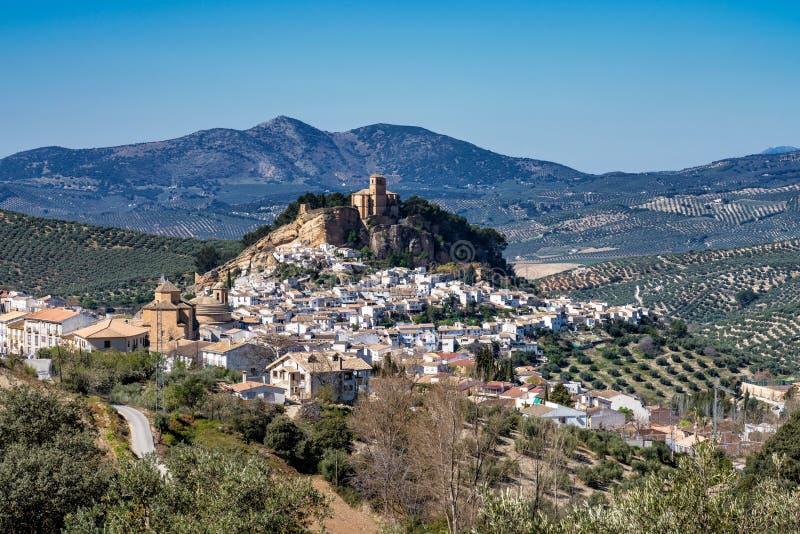 Montefrio nella regione di Granada di Andalusia in Spagna immagini stock libere da diritti