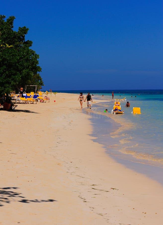 Montego Bay海滩牙买加 图库摄影
