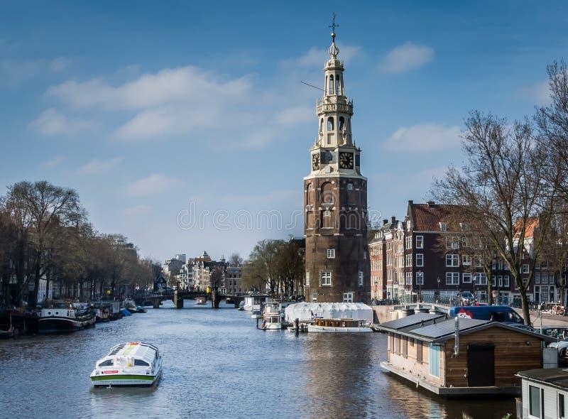 Montelbaans-Turm Amsterdam lizenzfreies stockfoto