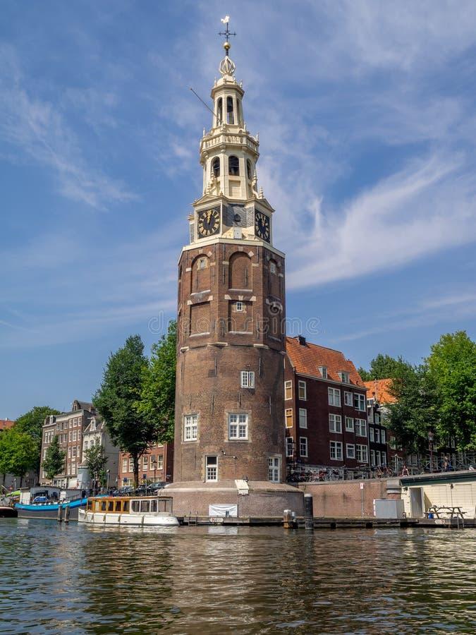 Montelbaanstoren塔,阿姆斯特丹 图库摄影