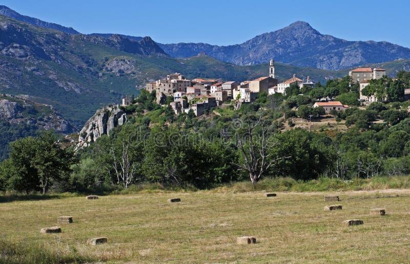 Montemaggiore, Corsica. Scenic mountain village of Montemaggiore, Corsica, France royalty free stock photos