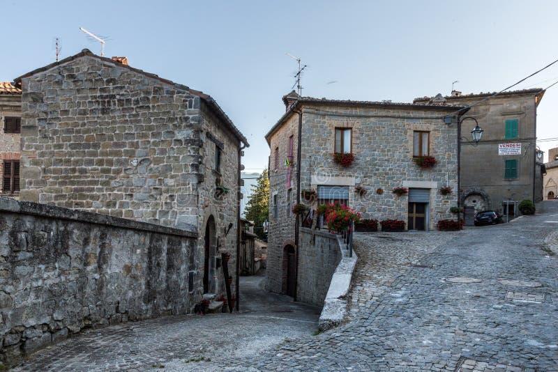 Montemonaco Sibillini góry Marche Włochy zdjęcie royalty free