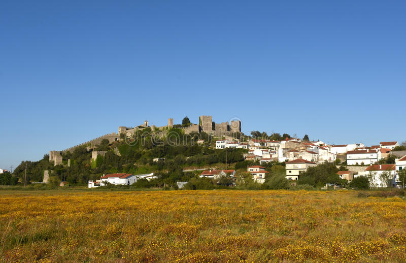 Montemor. Castle and village of Montemor o Velho, Beiras region Portugal stock images
