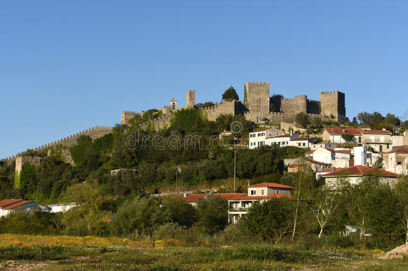Montemor. Village and castle of Montemor o velho, Beiras region, Portugal royalty free stock photos
