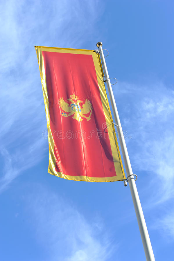 Montenegrin Flag Stock Photography