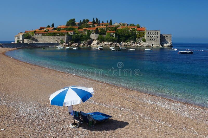 montenegro唯一stefan sv伞 库存照片