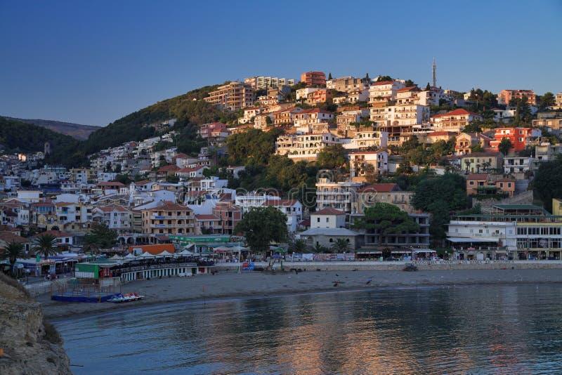 montenegro日落ulcinj 库存照片