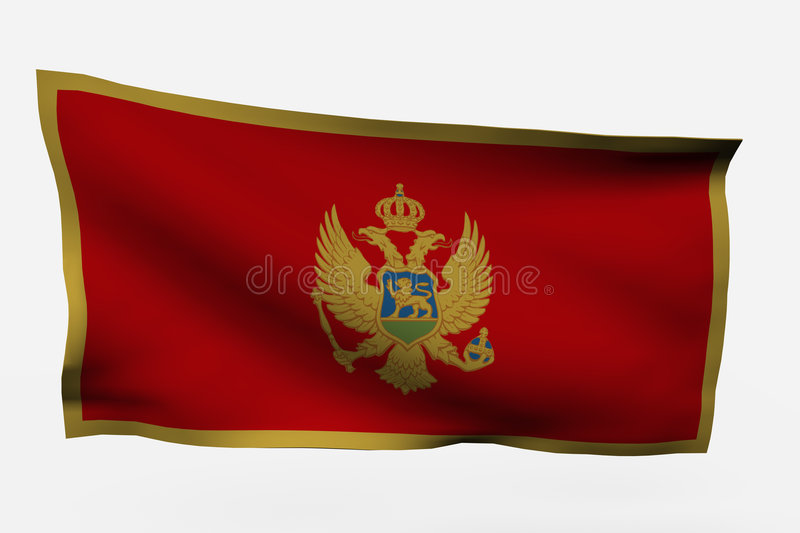 Montenegro 3d vlag stock illustratie