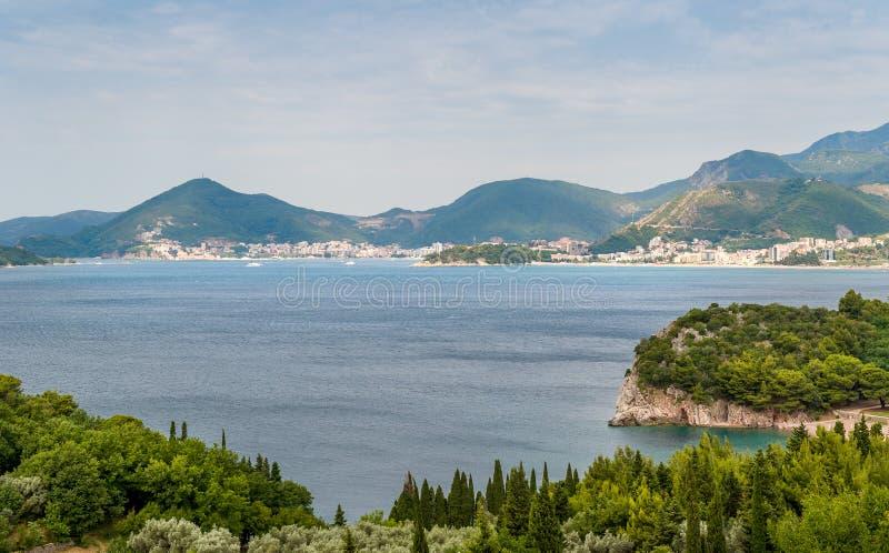 Montenegro Adriatische kust royalty-vrije stock afbeelding