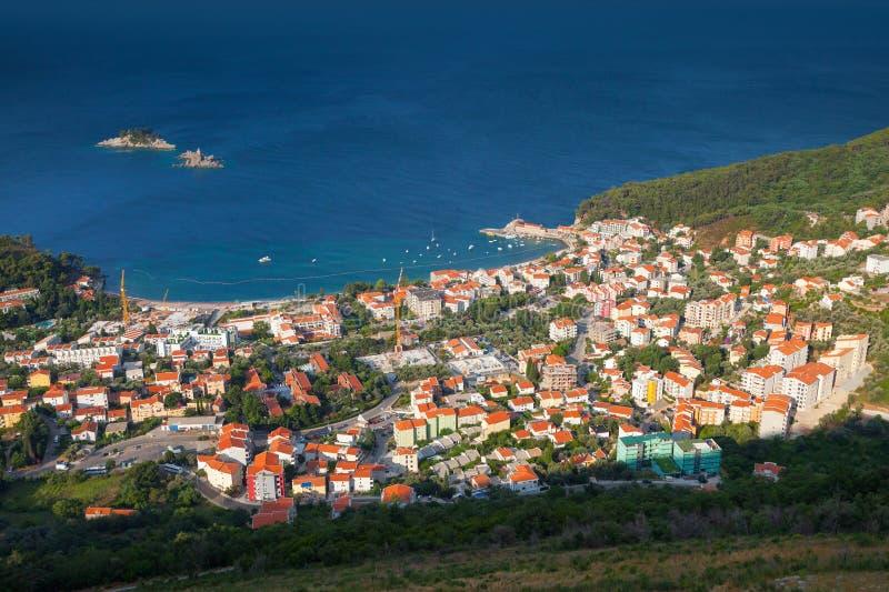 Montenegro. Adriatische Overzeese Kust. Petrovac royalty-vrije stock fotografie