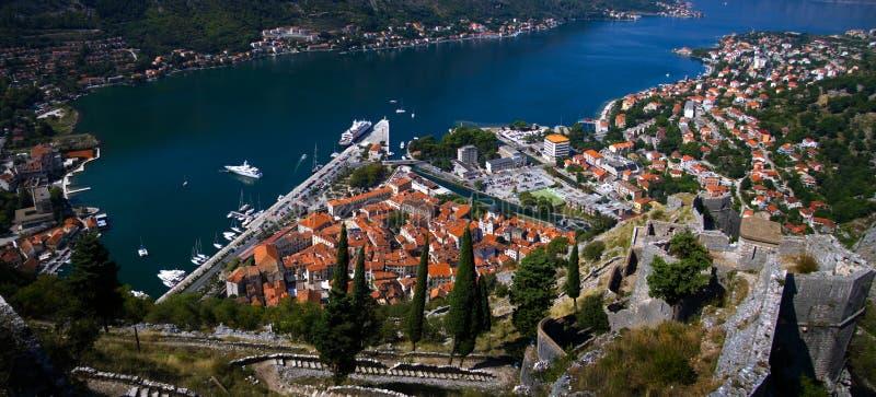 Montenegro. Baía de Kotor fotos de stock