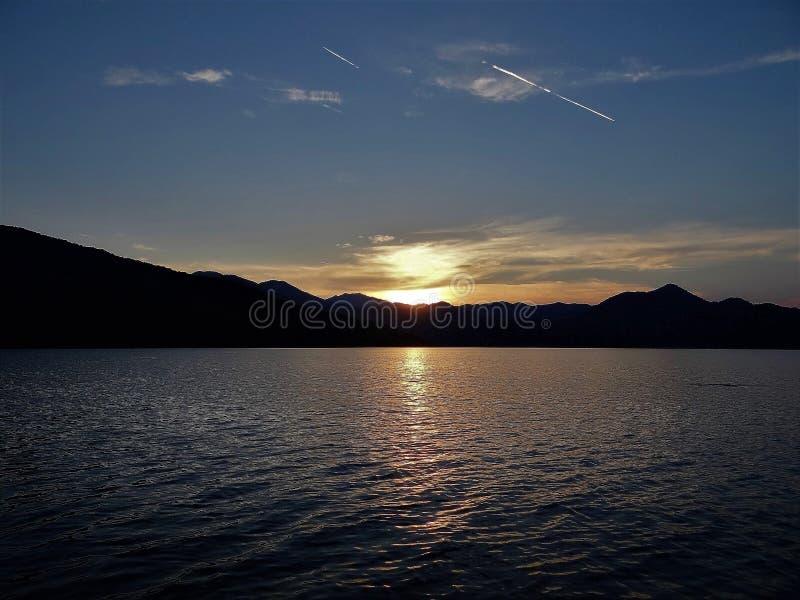 Montenegro. Beautiful Skadar Lake. Sunset. royalty free stock photos