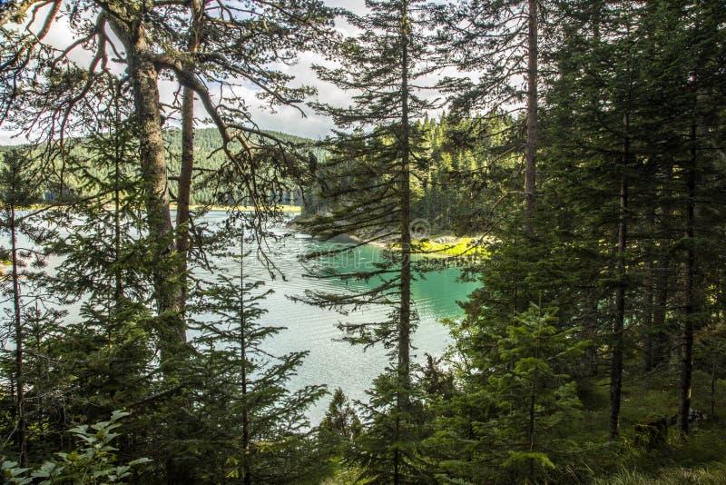 Montenegro. Black Lake. Durmitor National Park stock photo
