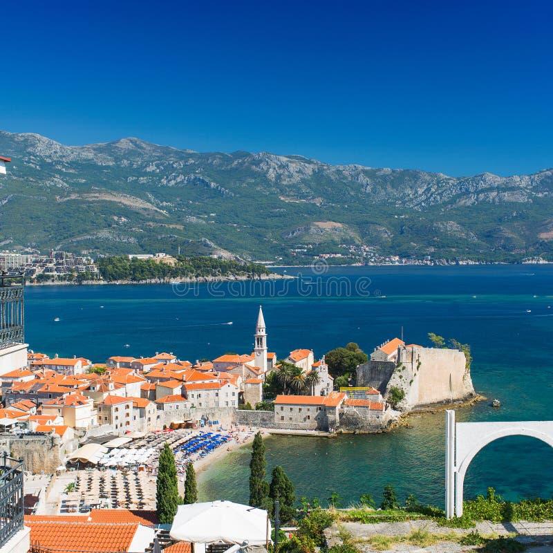 Montenegro, Budva, stary miasteczko obraz royalty free