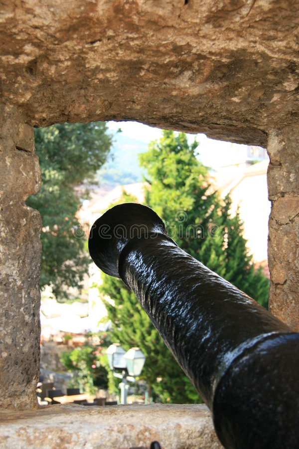 Montenegro. Cannon royalty free stock images