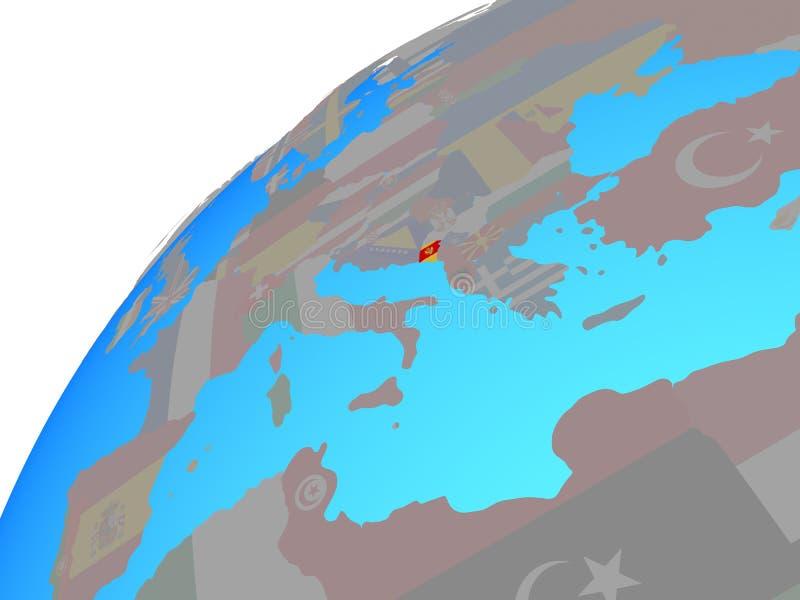 Montenegro con la bandera en el globo libre illustration