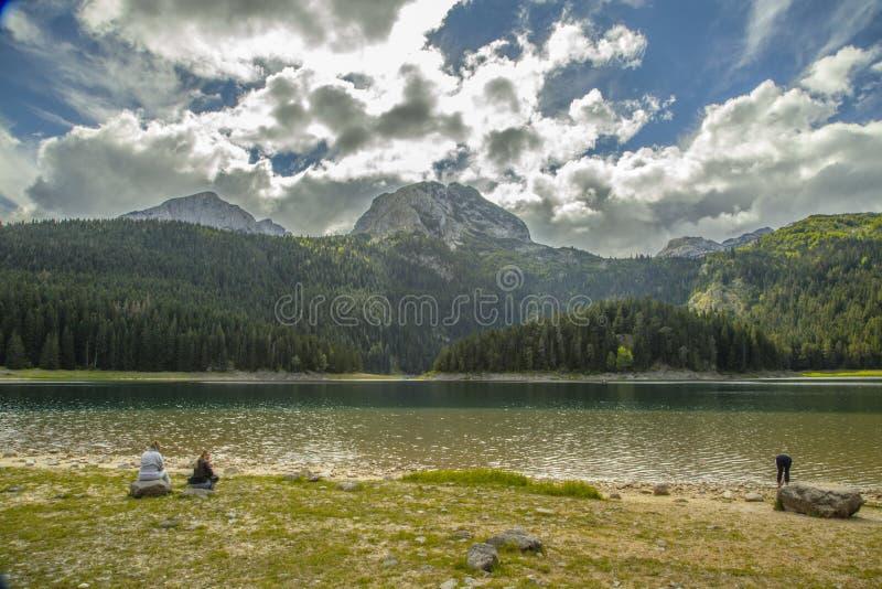 Montenegro Czarny jezioro Durmitor Park Narodowy zdjęcia royalty free