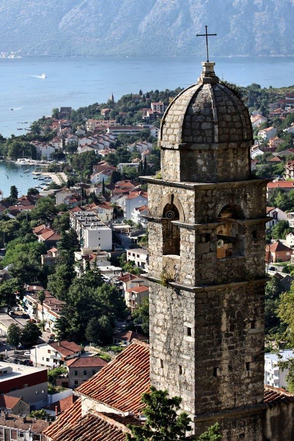 Montenegro: Dächer von Kotor stockbilder