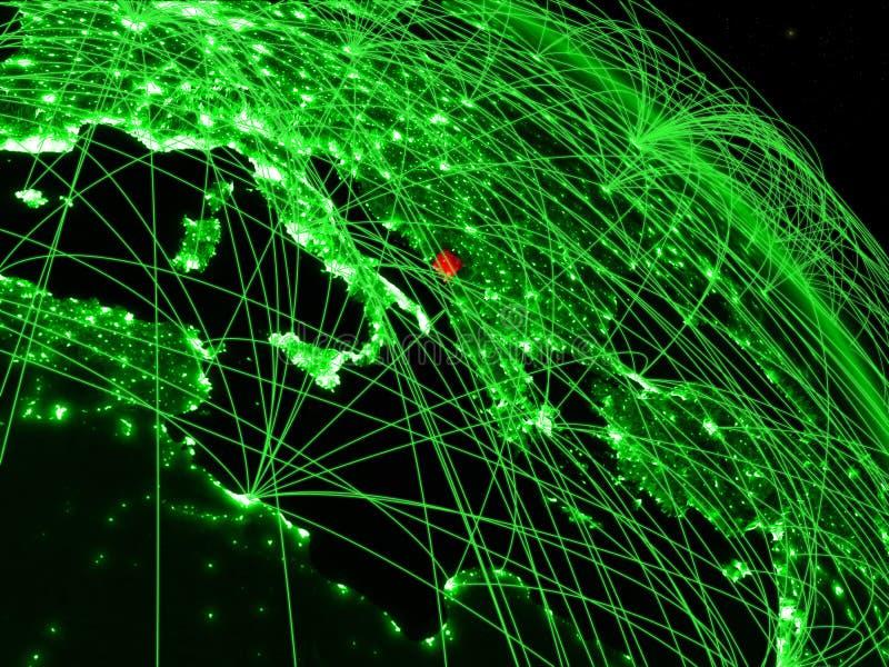Montenegro en el globo verde libre illustration