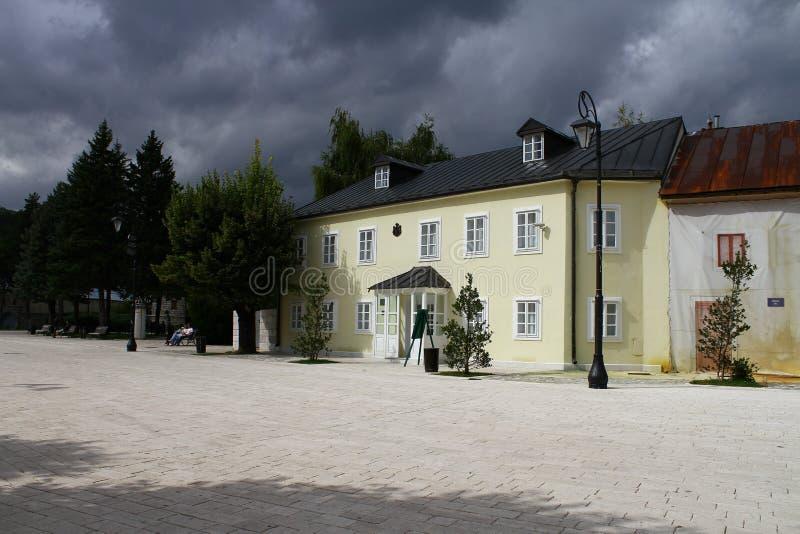 Montenegro Etnograficzny muzeum w miasteczku Cetinje obrazy stock