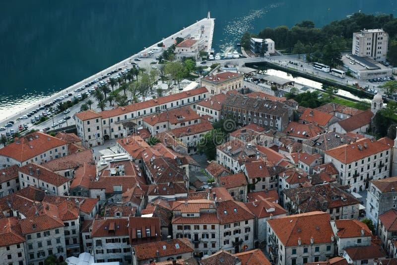 Montenegro Fjärden av Kotor gammal stad Lopp i Maj 2014 turism i montenegrinskt royaltyfri fotografi