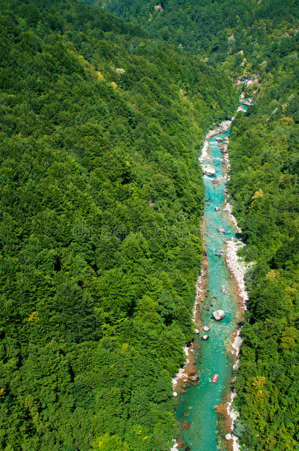 montenegro flod tara arkivfoto