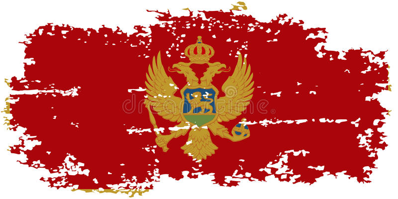 Montenegro grunge vlag Vector illustratie vector illustratie