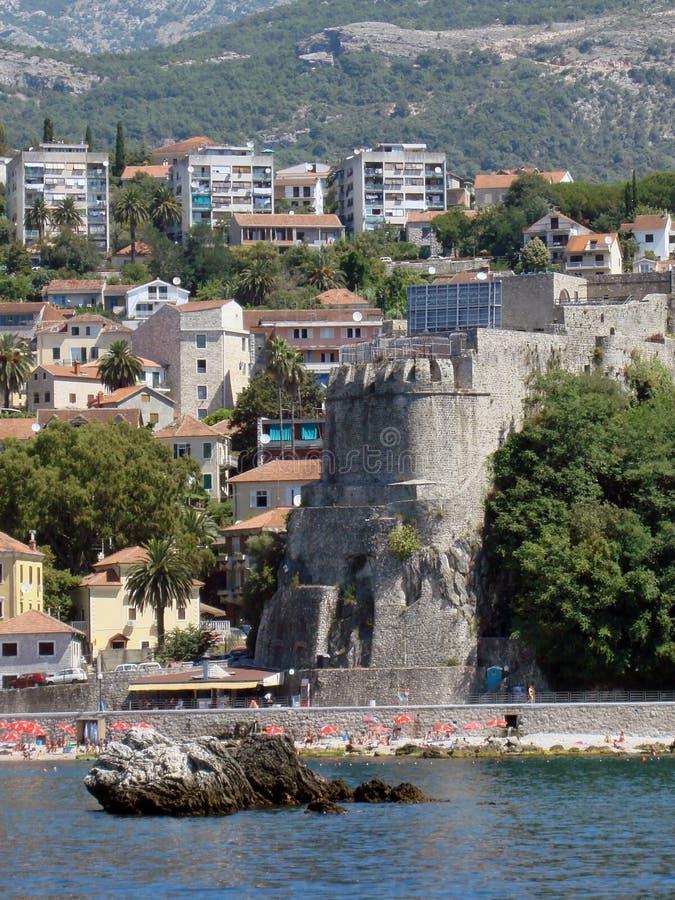 Montenegro. Herceg Novi stock afbeelding