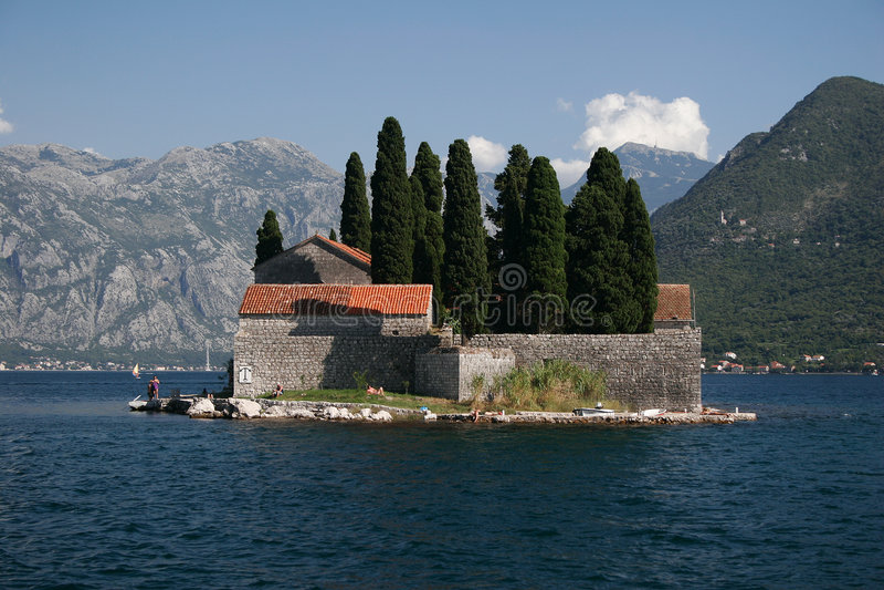Montenegro, isla fotos de archivo