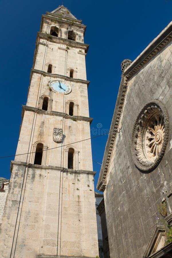 montenegro kościelny perast fotografia stock