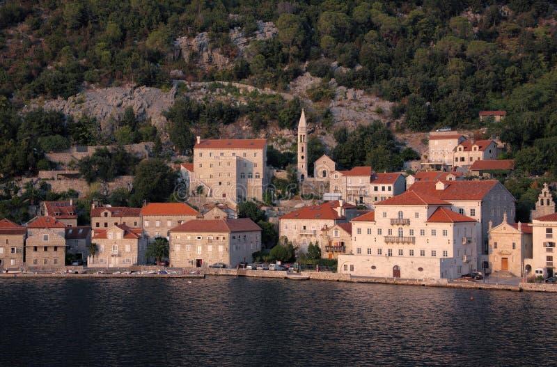 Montenegro Kotor海湾 库存图片
